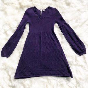 B B Dakota Purple Sweater Dress